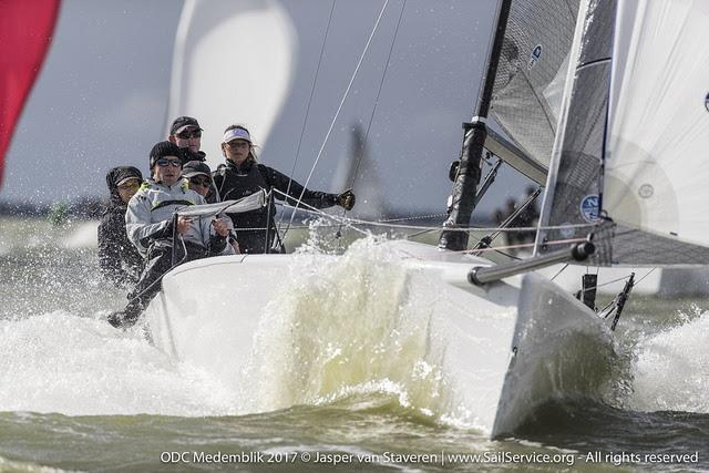 Miles Quinton's Gill Race Team with lately crowned SB20 World Champion Geoff Carveth in helm, scored 5-3-4 on day 1 of Melges 24 European Sailing Series Medemblik - photo © Jasper van Staveren / www.SailService.org