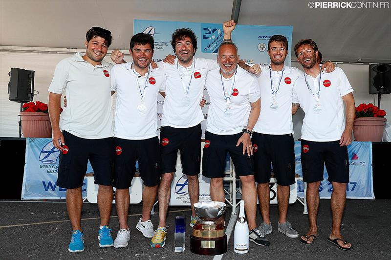 Happy team of TAKI 4, Corinthian champions, at the Melges 24 World Championship in Helsinki photo copyright Pierrick Contin / www.pierrickcontin.com taken at  and featuring the Melges 24 class