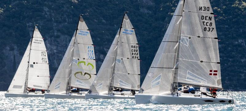 Gill Race Team GBR694 competing in their favourite sailing spot on Lake Garda, Italy photo copyright IM24CA / Zerogradinord taken at  and featuring the Melges 24 class