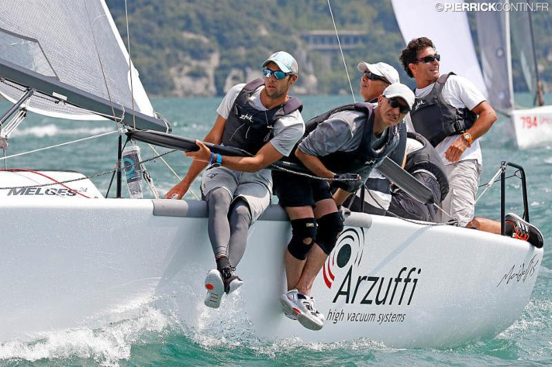 Maidollis (ITA854, 7-1-1 the scores of today), after the excellent debut of the first day in which they scored a magnificent double-bullet, return to be protagonists and consolidate the leadership of provisional ranking - Melges 24 European Championship - photo © Pierrick Contin
