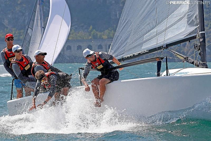 German family team White Room (GER677) of Michael Tarabochia with his sons and friends are currently on the second place in Corinthian division of the Melges 24 European Sailing Series photo copyright Pierrick Contin taken at  and featuring the Melges 24 class
