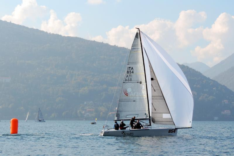 Local team of Flavio Favini on Maidollis collected three bullets and takes the lead after five races sailed photo copyright Piret Salmistu taken at  and featuring the Melges 24 class