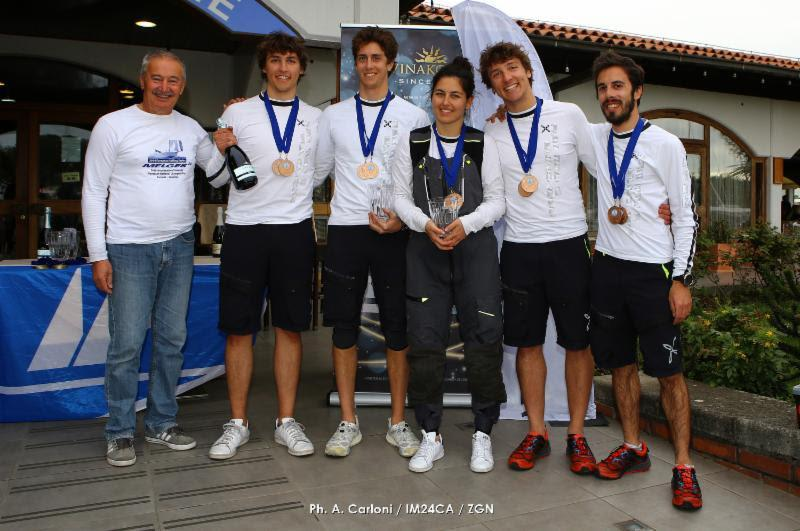 Sergio Caramel's Arkanoe by Montura ITA809 with Filippo Orvieto, Riccardo Gomiero, Margherita Zanuso and Federico Gomiero - third classified at the Marina Portoroz Melges 24 European Sailing Series 2019 photo copyright Andrea Carloni / IM24CA / ZGN taken at Yacht Club Marina Portorož and featuring the Melges 24 class