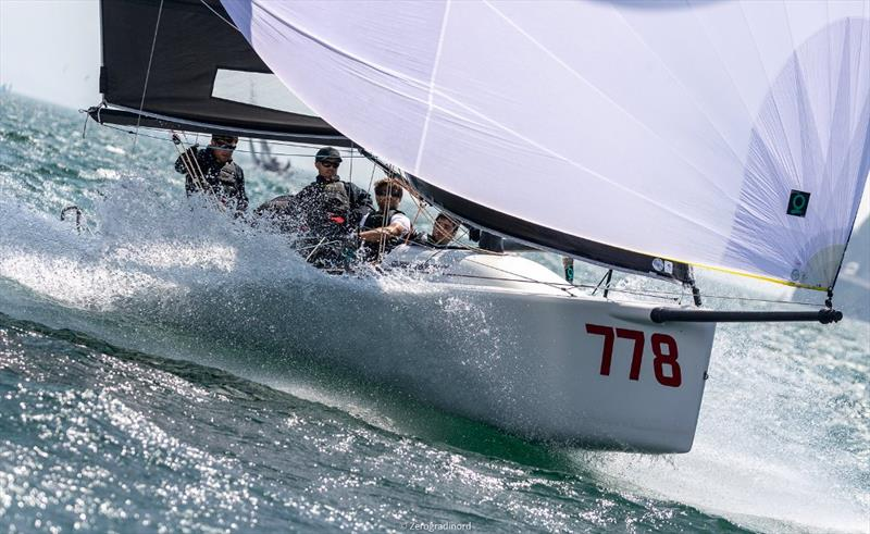 Taki ITA778 by Marco Zammarchi  (9-8-9) is 6th in the overall ranking and second in Corinthian division. - Day 2 - Melges 24 European Sailing Series at Riva del Garda, Italy - photo © Mauro Melandri / Zerogradinord