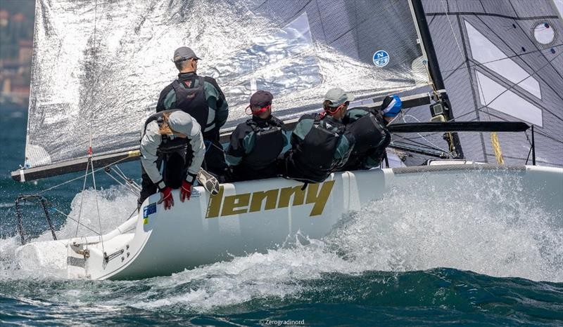 The Corinthian division sees once again Tõnu Tõniste's Lenny EST790 achieving the success. - Melges 24 European Sailing Series at Riva del Garda, Italy photo copyright Mauro Melandri / Zerogradinord taken at Fraglia Vela Riva and featuring the Melges 24 class