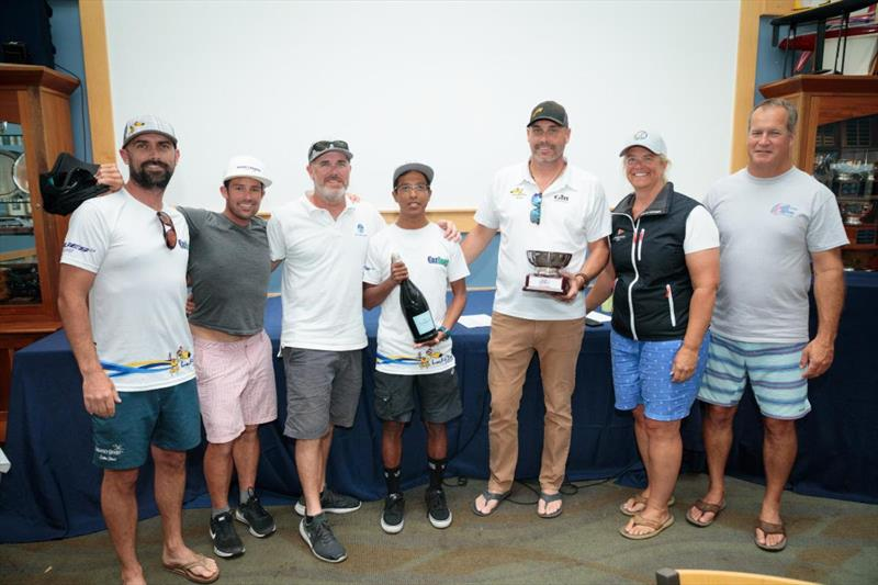 1st Place, 2019 Melges 24 North American Champions - Lucky Dog/Gill Race Team: Travis Weisleder, Mike Buckley, George Peet, John Bowden and Chewy Sanchez - 2019 Melges 24 North American Championship - photo © Bill Crawford - Harbor Pictures Company
