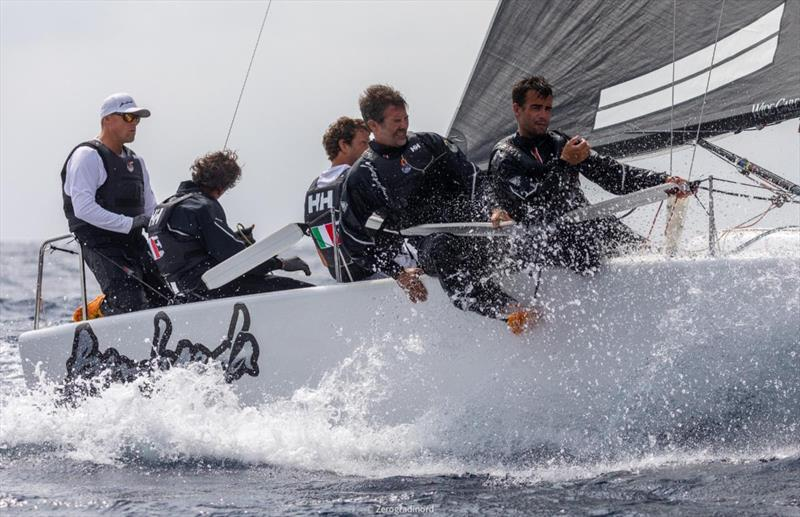 Bombarda ITA860 (7-4-1 today) by Andrea Pozzi, with Matteo Ivaldi on tactics, retains control of the provisional ranking - 2019 Melges 24 Pre-Worlds - photo © IM24CA/Zerogradinord