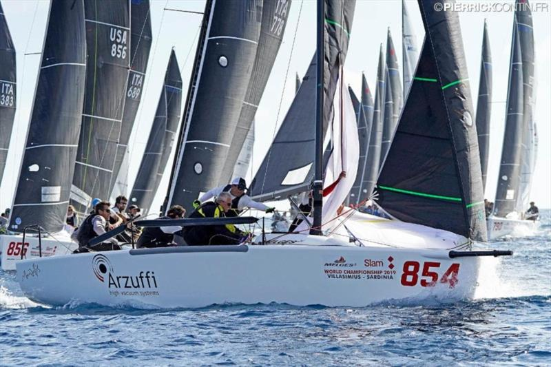Reigning Melges 24 World and European Champion Maidollis of Gianluca Perego with Carlo Fracassoli at the helm. - photo © Pierrick Contin / IM24CA