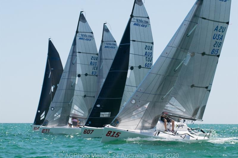 Adelaide has provided some great conditions on the opening day of racing - 2020 Australian Melges 24 Nationals - photo © Ally Graham