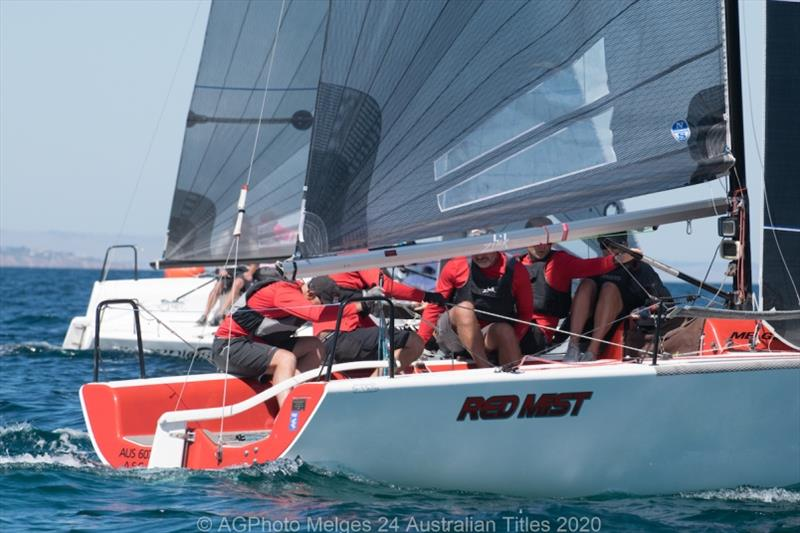 Robbie Deussen's Red Mist leads the Melges 24 Nationals after the first day - photo © Ally Graham