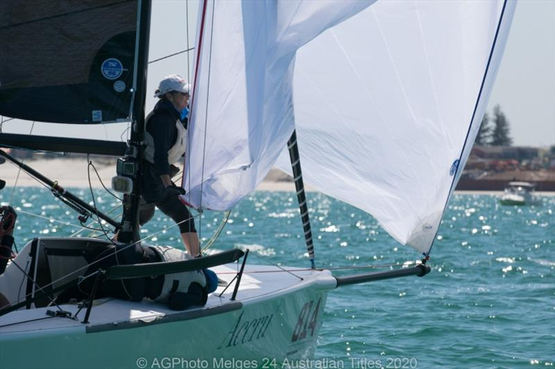 Glenda and Kevin Nixon's Accru sits fourth overall after Day 1 - 2020 Australian Melges 24 Nationals - photo © Ally Graham