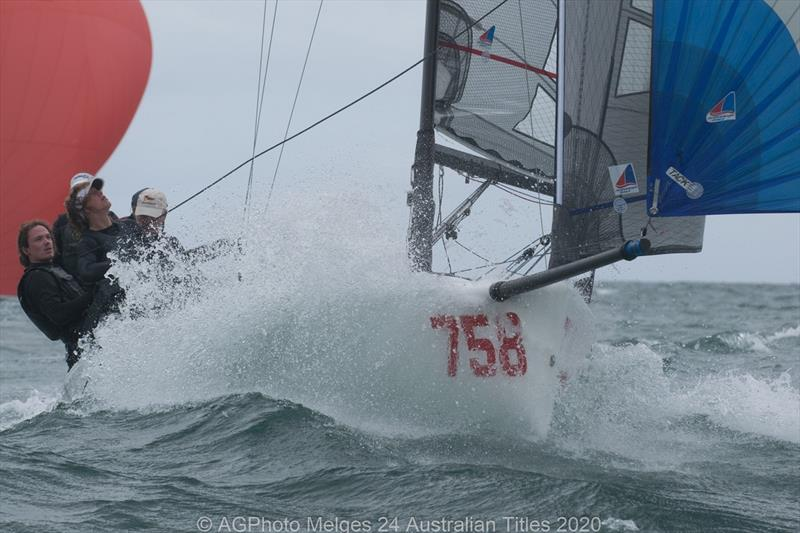Wet wild and windy on the final day of the 2020 Australian Melges 24 National Championships photo copyright Ally Graham taken at Adelaide Sailing Club and featuring the Melges 24 class