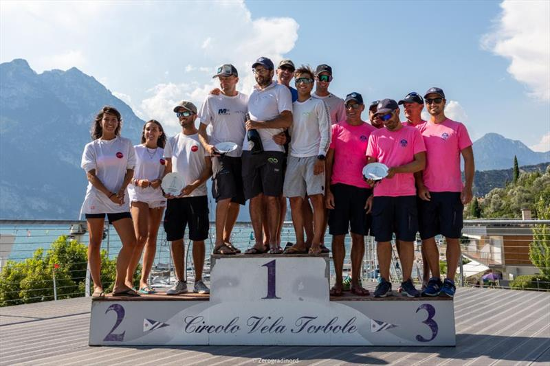 Overall Top 3 of the 2020 Melges 24 European Sailing Series Event #1 in Torbole, Italy  - photo © Zerogradinord / IM24CA