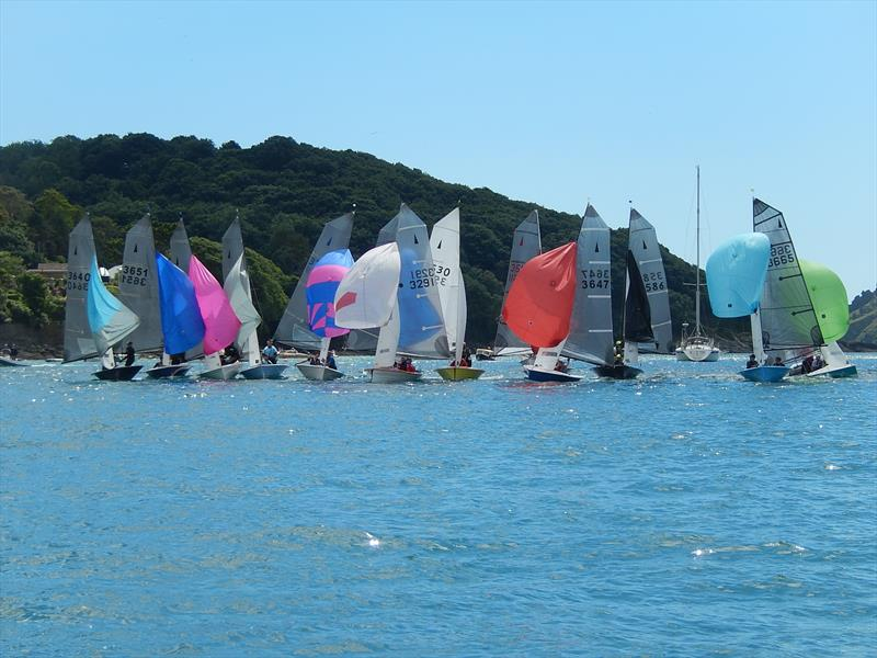 Sharps Doom Bar Merlin Week day 5 photo copyright Malcolm Mackley taken at Salcombe Yacht Club and featuring the Merlin Rocket class