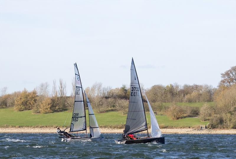 The Fernhurst Books Draycote Dash takes place on 18-19 November 2017 photo copyright Tim Olin / www.olinphoto.co.uk taken at Draycote Water Sailing Club and featuring the Merlin Rocket class