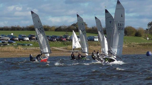 Blithfield Barrel Winter Series 2017-18 Round 1 photo copyright Chris Martin taken at Blithfield Sailing Club and featuring the Merlin Rocket class