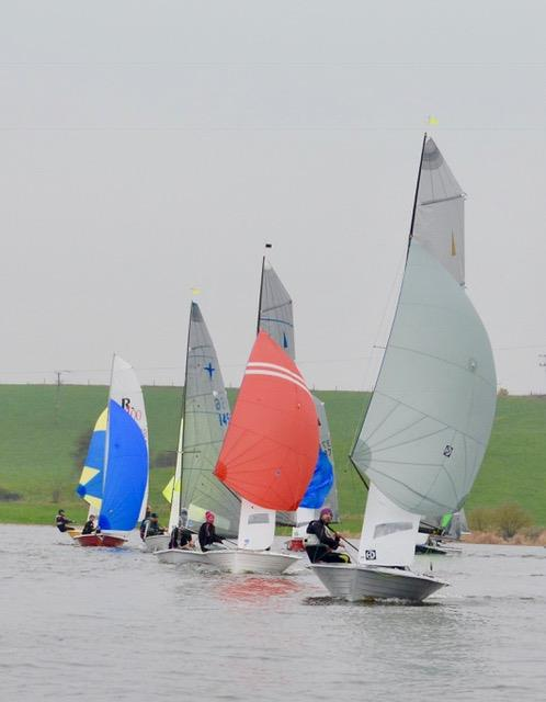 Blithfield Barrel Winter Series 2017-18 Round 3 photo copyright Iain Ferguson taken at Blithfield Sailing Club and featuring the Merlin Rocket class