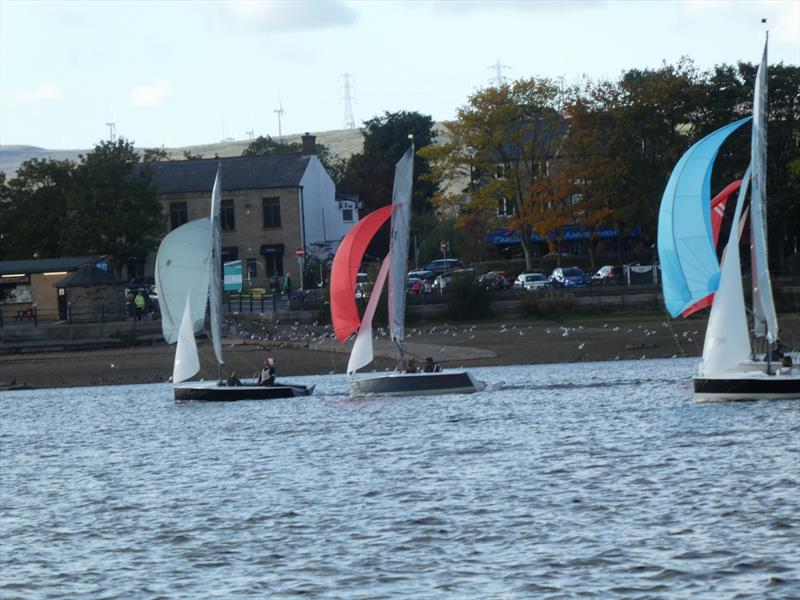 Merlin Rocket Felucca Trophy at Hollingworth Lake photo copyright Guy Winder taken at Hollingworth Lake Sailing Club and featuring the Merlin Rocket class