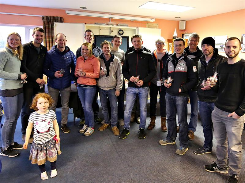All prize winners in the Burghfield Craftinsure Silver Tiller Open - photo © Mike Proven