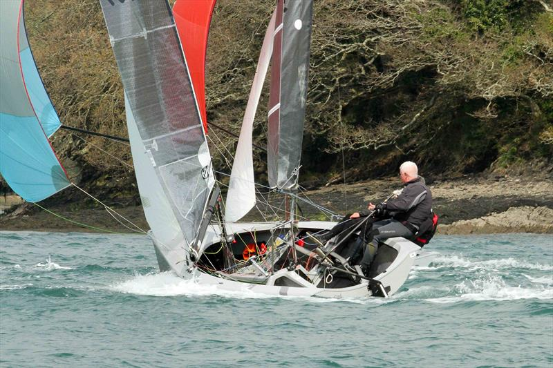 Craftinsure Merlin Rocket Silver Tiller at Salcombe - photo © John Murrell