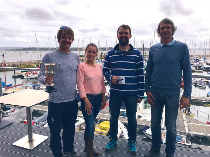 Winners with the organisers (l-r) Ben Saxton, Louisa Archer, Tim Saxton & Ben Archer after the Craftinsure Merlin Rocket Silver Tiller at Parkstone - photo © Pippa Kilsby