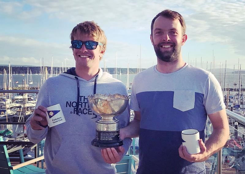 Saturday winners Tim and Ben Saxton in the Craftinsure Merlin Rocket Silver Tiller at Parkstone - photo © Lou Johnson