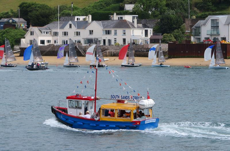 Salcombe Gin Merlin Rocket Week 2019 day 1 photo copyright Malcolm Mackley taken at Salcombe Yacht Club and featuring the Merlin Rocket class