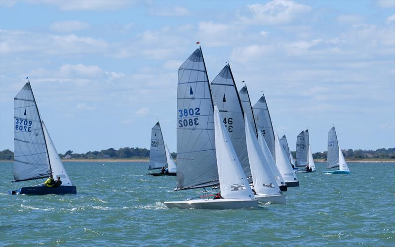 The race is on during the Lymington Merlin Rocket Open  - photo © Pat Blake