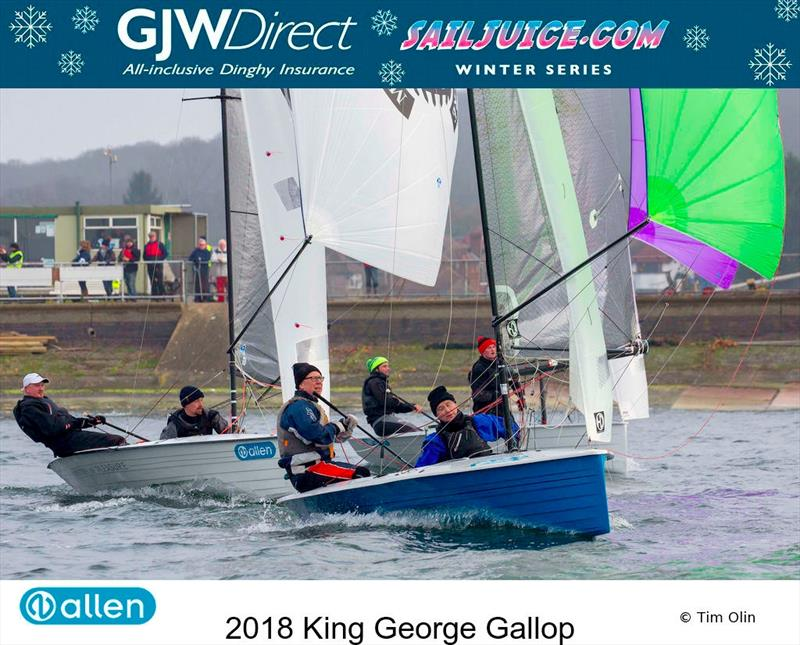 First ever King George Gallop forms part of the GJW Direct SailJuice Winter Series photo copyright Tim Olin / www.olinphoto.co.uk taken at King George Sailing Club and featuring the Merlin Rocket class
