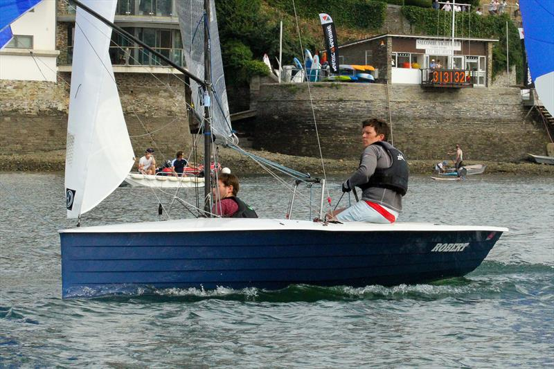 Sophie Mackley and Tom Ballantine take second in race 10 of Sharp's Doom Bar Salcombe Merlin Week - photo © John Murrell