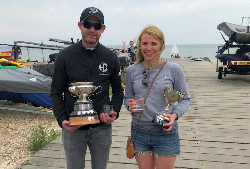 Andy Davis and Pippa Kilsby - Overall winners - at the Craftinsure Merlin Rocket Silver Tillerevent at Whitstable - photo © Pippa Kilsby