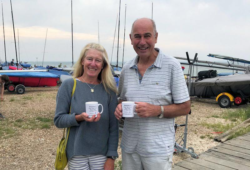 Pat and Jilly Blake - Silver Fleet Winners - at the Craftinsure Merlin Rocket Silver Tillerevent at Whitstable - photo © Pippa Kilsby