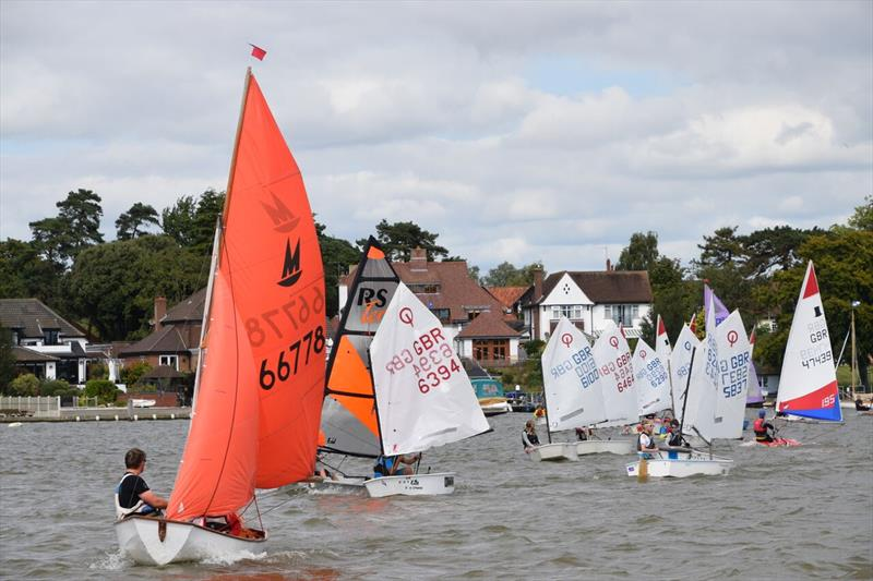 Slow Handicap dinghies at Oulton Week 2017 - photo © Trish Barnes