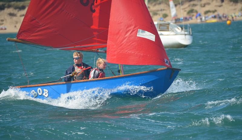 Plenty of breeze to challenge the younger sailors at Abersoch Mirror Week 2018 - photo © John Edwards