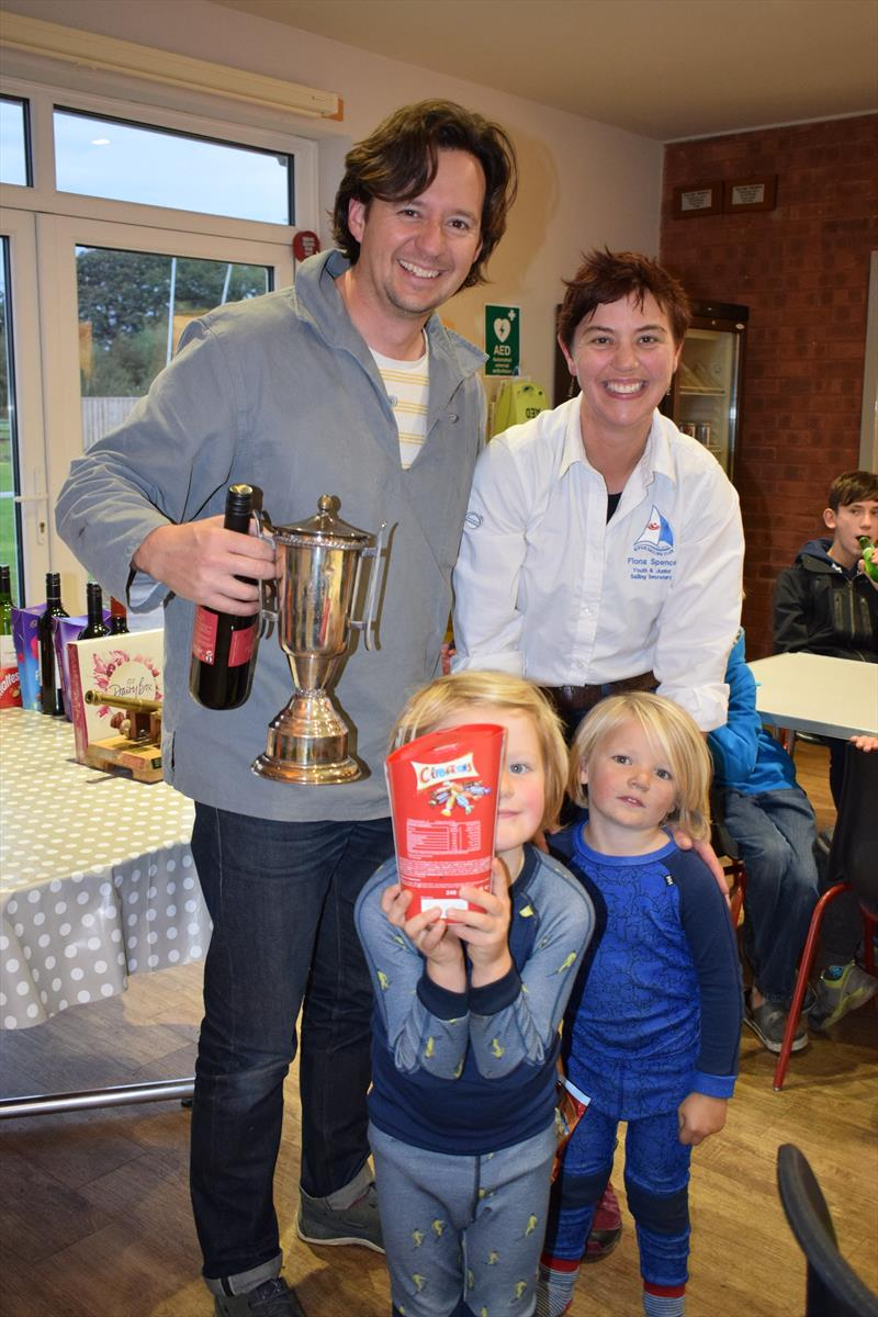 James, Barnaby and Blaise Kemp with Ripon SC's Fiona Spence during the Ripon Mirror Open photo copyright Gail Jackson taken at Ripon Sailing Club and featuring the Mirror class