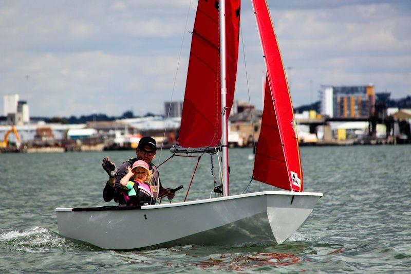 JP and Elle Marks in the Rooster Mirror National Championships at Poole photo copyright Alan Phypers taken at Poole Yacht Club and featuring the Mirror class