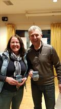 Margaret Casey & Neil Colin (Fireball), Mug Winners PY Class Race 2 on day 1 of the Dun Laoghaire Frostbites Series 2 © Frank Miller