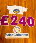 Scarborough Yacht Club members' T-shirt initiative generates £240 donation to Saint Catherine's © Chris Clark