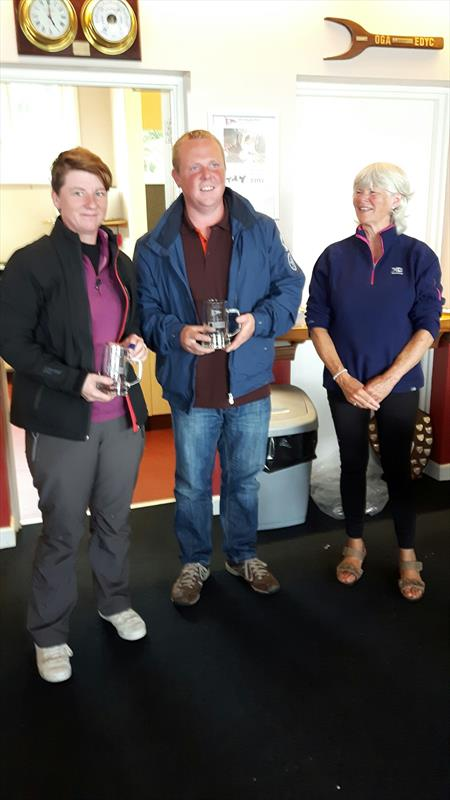 GP14 Ulster Championship Silver Fleet Winners Steve Nelson and Brenda Preston photo copyright Laura Thompson taken at East Down Yacht Club