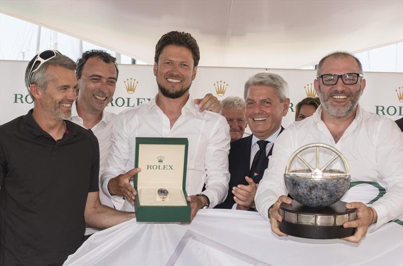 2017 Giraglia Rolex Cup Race prize giving photo copyright Rolex / Kurt Arrigo  taken at Yacht Club Italiano