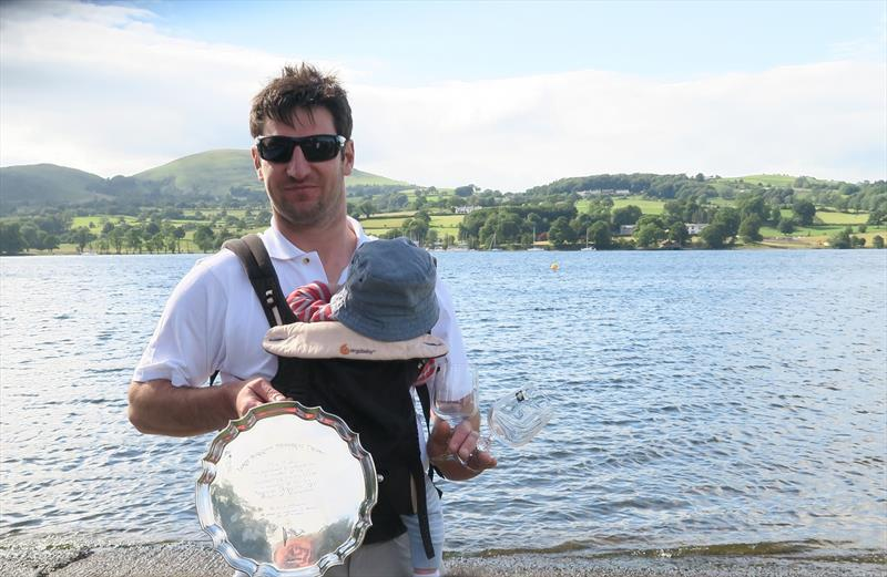 Birkett winner Ian Turnbull - with baby Ben photo copyright Sue Giles taken at Ullswater Yacht Club