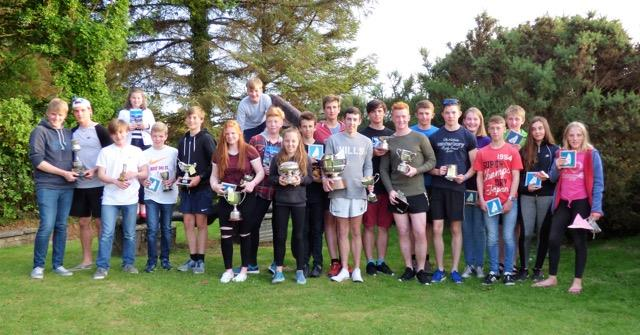 Prize winners all! The winners show off their trophies at the end of a great Solway Yacht Club Cadet Week photo copyright Ian Purkis taken at Solway Yacht Club