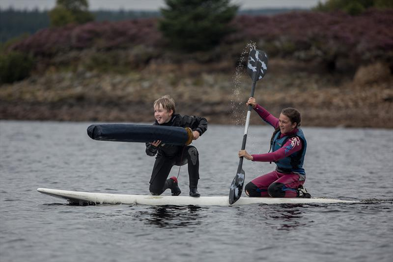 Archie Nixey-Godfrey and Fay Tomlin during the August Bank Holiday weekend at Kielder Water - photo © Andrew Godfrey