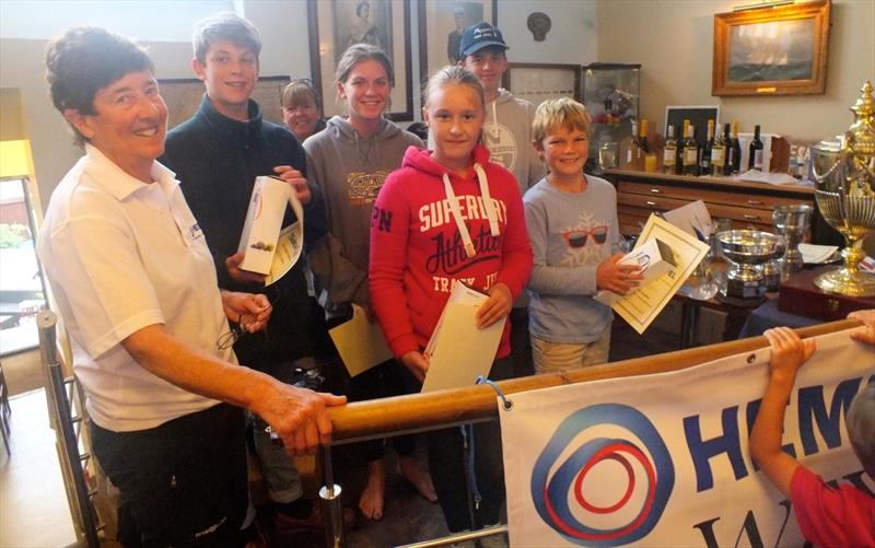 Prizes for under 18 competitors during the 2017 Hempel Weymouth Yacht Regatta - photo © John Arnold
