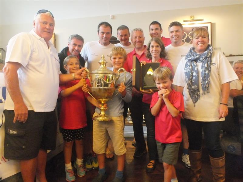 Churchill Cup presented to Bengal Magic at the Hempel Weymouth Regatta organised by the combined Yacht Clubs during the 2017 Hempel Weymouth Yacht Regatta - photo © John Arnold