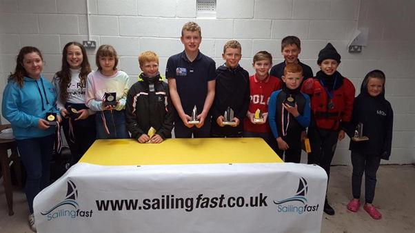 Prize winners in the SailingFast Scottish Travellers event at Annandale photo copyright Helen James taken at Annandale Sailing Club