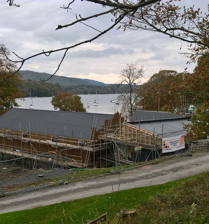 Progress on building work at South Windermere Sailing Club photo copyright SWSC taken at South Windermere Sailing Club