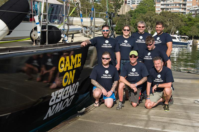 UK veterans preparing to board the Invictus Games Sydney 2018 GAME ON (CV10) yacht in Sydney, Australia photo copyright Tamsin Mulcahy taken at Cruising Yacht Club of Australia
