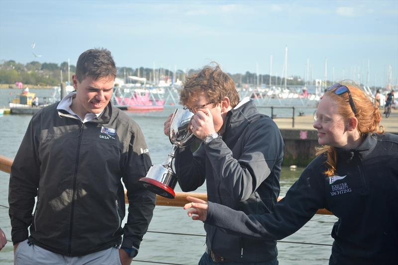 Winners Southampton with their victory drink at the EUSC Reunion Race Weekend - photo © Will Roberts