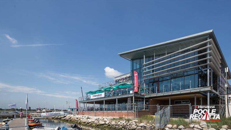 The new Parkstone YC clubhouse gleams in the sunshine at the International Paint Poole Regatta 2018 photo copyright Ian Roman / International Paint Poole Regatta taken at Parkstone Yacht Club